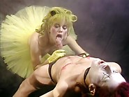 Tutu Wearing Gina Opel Gets Shaved Pussy Filled With Man Meat