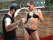 Marvelous Russian Blonde Babe Wants Bondage On The Table