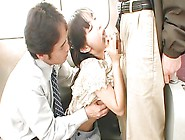 Japanese Hottie Sucks Cock On The Train
