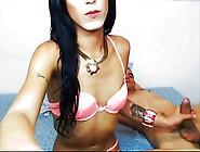 Boy Sucking His Tranny Girlfriend On Webcam