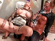 Sophisticated Blonde & Brunette Massage Cunt Covered In Wam