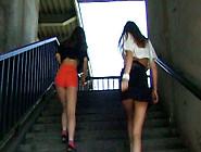 Playful Russian Teens Goof Around Outdoors Before Hot Lesbian Se
