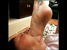Suck Her Brazilian Feet Slave Girl