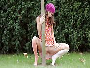Gorgeous Model Guerlain Spreads Legs