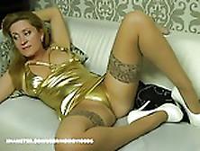 Wm 240 Mature Suntan Nylons & Heels