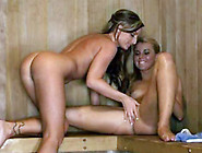 Lesbian Babes Pussy Licking In The Sauna
