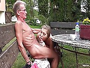 Elderly Man Is Eagerly Fucking A Super Hot,  Fresh Blonde,  While