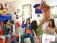 Naughty College Girls Are Partying In The Dorm And Sucking A Han