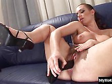 Luscious Eden Does Her Hairy Pussy In Solo With Fingers