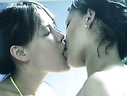 Sensual Lesbian Scene With Cute Asian Girl And Juicy Mulatto Bab