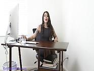 Hd Office Nylon Feet Pov