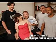 Petite Brunnette Nympho Leanna Covered In Messy Bukkake Video