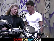 Cock Hungry Lad Seduces Strong Hetero Biker