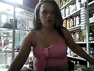 Stripping To Cam And Squirt At Work - Latina Ph