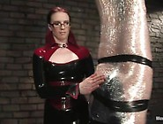 Specifically authorized latex bondage rubber femdom that