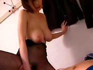 Beauty And Admirable Cock Sucker Is Doing Titjob Indoors