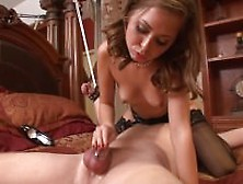 Denial Orgasm Chastity Belt With Riley Reid