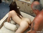 Young,  Dirty Chick Pleases A Kinky Old Man
