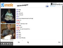 Omegle Girl Shows Wetness