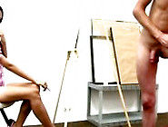 Cfnm Guys Pose Nude In Public For Amateur Girls Art Class