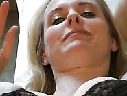 Blonde German Mom In Black Stockings Dkd