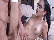 Spex Stepdaughter And Busty Mature In Trio