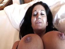 Stacked Brunette Milf With A Heavenly Ass Enjoys A Long Stick In