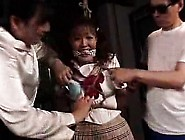 Pretty Japanese Babe Gets Tied Up,  Suspended And Fucked Wit
