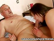 Horny Grandpa Gives Wibeke A Good Fucking