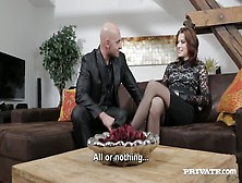 The Elegant Victoria Daniels Having Sex With A Bald Guy In An At