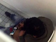 Caught A Middle East Person Is Jerking Off In The Toilet At Scho