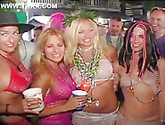 Mardi Gras Whores Flash Their Titties