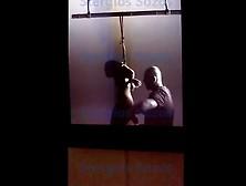 Lady Gaga Backstage,  Robert Wilson Flying Portrait