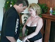 Blonde Mature Whore Invites Her Daughter's Boyfriend To Come