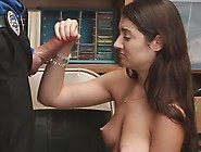Small Boobs Chick Jerked Her Security Guard Big Cock