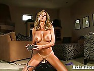 Brandi Love Is Riding A Sybian In Front Of A Web Camera,  While H