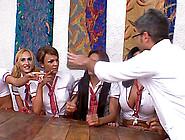 Beautiful Trannies Gang Bangs Their Male Teacher Shamelessly In