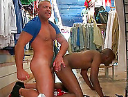 Muscled Hot Afro Gay Gets Butt Nailed In Public