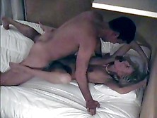 Tall Guy Fucks Athletic Blonde With Big Tits