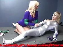 Rachel Rogue And Prism Lesbian Superheroine Pussy Eating Fingeri