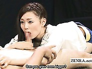 Subtitled Cfnm Pale Japan Av Star Handjob And Blowjob