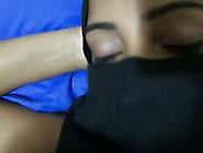 Filthy Arab Girl Wearing Hijab Gives Deepthroat Blowjob.  Pov