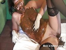 Scat - Girl Masturbating With Shit