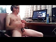 First Wank & Cum Load With Cock&ball Strap