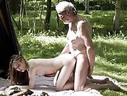 Big Dick Gifted Old Hobo Fucks Sweet Teenie In The Forest