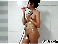 Hairy Asian College Teen Hidden Cam Shower