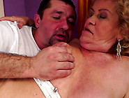 Fat Blonde Granny Effie Gets Her Hairy Snatch Licked And Fucked
