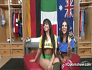 Two Hot Girls Plays Their Toys And Pounds A Thick Man Meat Squir