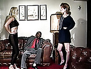 Horny Bitches Plays With The Dildo And Big Black Cock