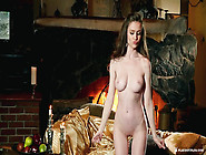 Emily Bloom Feels Warm By The Fireplace